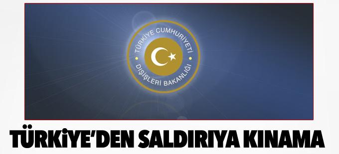 Türkiye'den saldırıya kınama