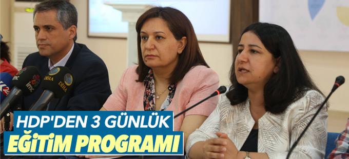 HDP'den 3 günlük eğitim programı