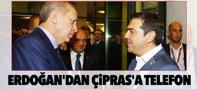 Erdoğan'dan Çipras'a telefon