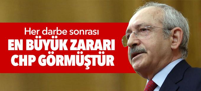Kılıçdaroğlu: Her darbe sonrası en büyük zararı CHP görmüştür