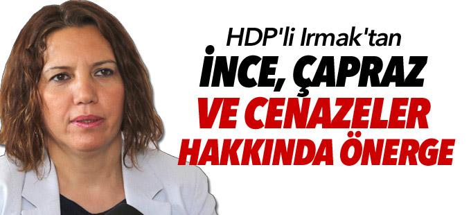 HDP'li Irmak'tan İnce, Çapraz ve cenazeler hakkında önerge