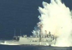 ABD Ordusu tek bir fırkateyni 12 saatte batırabildi