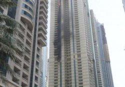 Dubai'de gökdelen yangını