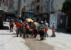 Nusaybin'de cadde ve kaldırımlarda temizlik yapıldı