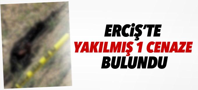 Erciş'te yakılmış 1 cenaze bulundu