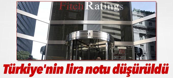 Fitch Türkiye'nin lira notunu düşürdü