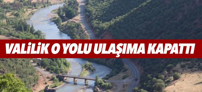 Dersim- Erzincan yolu ulaşıma kapatıldı