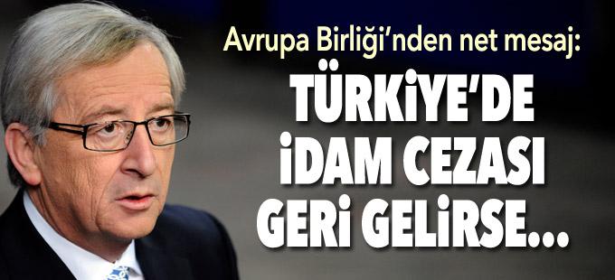 AB: İdam cezası geri gelirse Türkiye'nin üyelik süreci durur