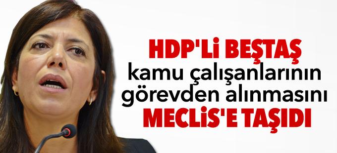HDP'li Beştaş kamu çalışanlarının görevden alınmasını Meclis'e taşıdı