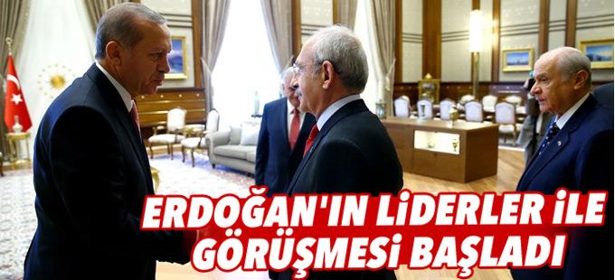 Cumhurbaşkanı Erdoğan'ın liderler ile görüşmesi başladı