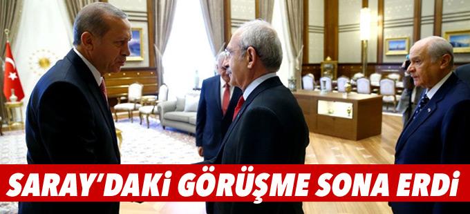 Cumhurbaşkanlığı Sarayı'ndaki görüşme sona erdi