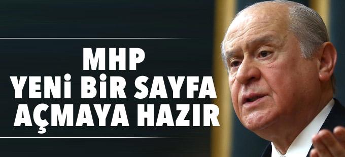 Bahçeli: MHP yeni bir sayfa açmaya hazır