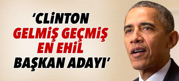 Obama: Hillary Clinton gelmiş geçmiş en ehil başkan adayı