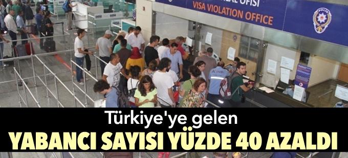 Türkiye'ye gelen yabancı sayısı yüzde 40 azaldı