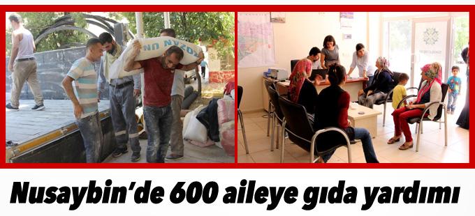 Nusaybin'de 600 aileye gıda yardımı yapıldı
