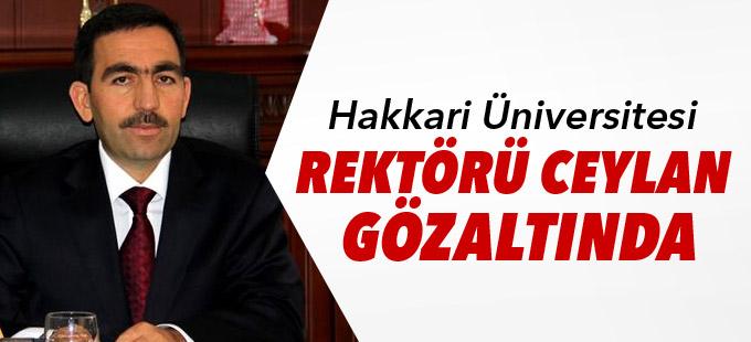 Hakkari Üniversitesi Rektörü Ceylan gözaltında