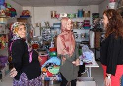 Artuklu'da iş kuran kadınlara ziyaret