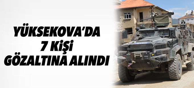 Yüksekova'da 7 kişi gözaltına alındı