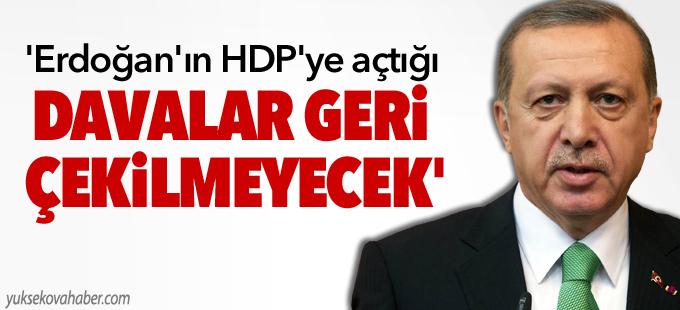 'Erdoğan'ın HDP'ye yönelik açtığı davalar geri çekilmeyecek'