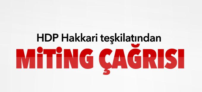 HDP Hakkari teşkilatından miting çağrısı
