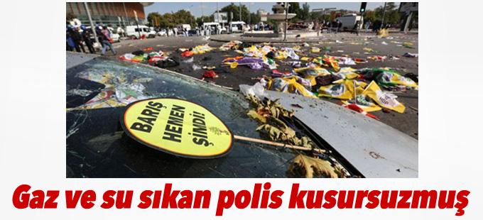 Ankara Katliamı'nda gaz ve su sıkan polis kusursuzmuş