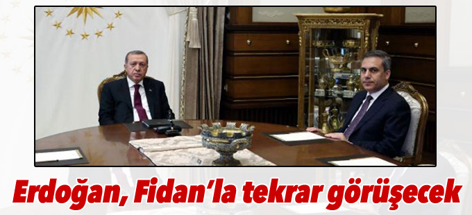 Erdoğan, Fidan'la tekrar görüşecek