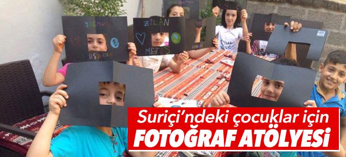 Suriçi'ndeki çocuklar için fotoğraf atölyesi