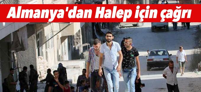 Almanya'dan Halep için çağrı