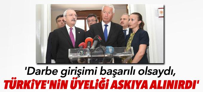'Darbe girişimi başarılı olsaydı, Türkiye'nin üyeliği askıya alınırdı'