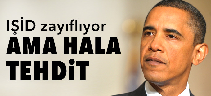 Obama: IŞİD zayıflıyor ama hala tehdit