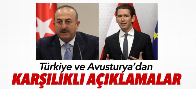 Türkiye ve Avusturya'dan karşılıklı açıklamalar