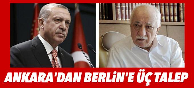 Ankara'dan Berlin'e üç talep