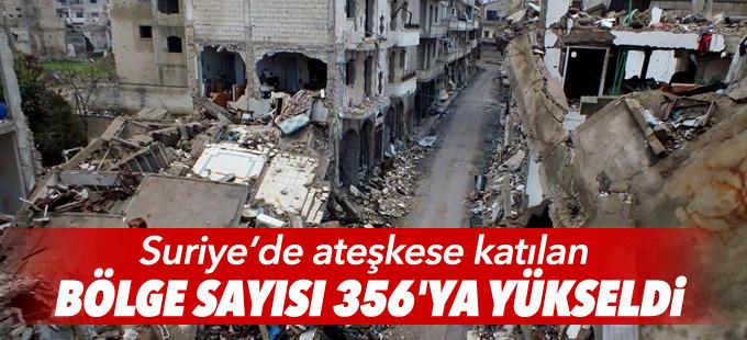 Suriye'de ateşkese katılan bölge sayısı 356'ya yükseldi
