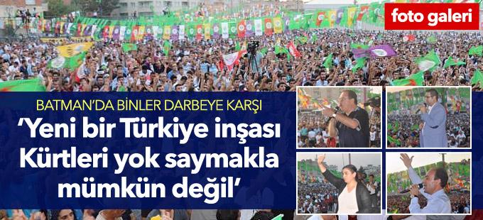 Tuncel: Yeni bir Türkiye inşası Kürtleri yok saymakla mümkün değil