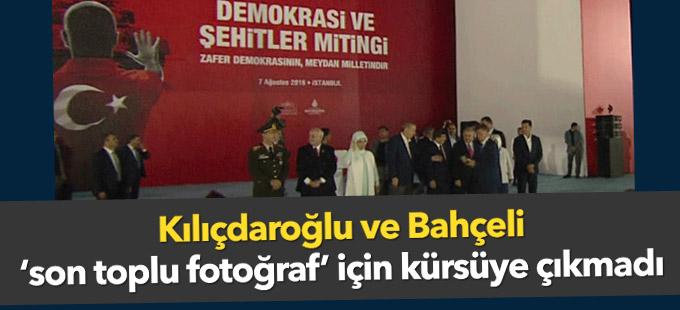 Kılıçdaroğlu ve Bahçeli 'son toplu fotoğraf' için kürsüye çıkmadı