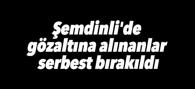 Şemdinli'de gözaltına alınanlar serbest bırakıldı