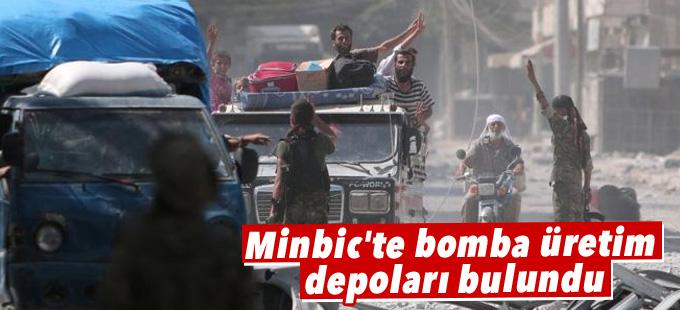 Minbic'te bomba üretim depoları bulundu