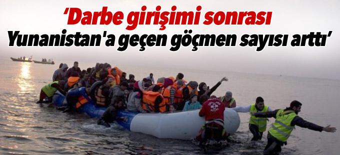 Times: Darbe girişimi sonrası Yunanistan'a geçen göçmen sayısı arttı