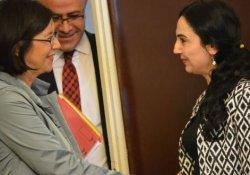Yüksekdağ, AGİT Parlamenter Asamblesi Başkanı Muttonen ile görüştü