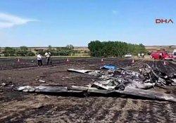 Tekirdağ'da eğitim uçağı düştü: 2 ölü