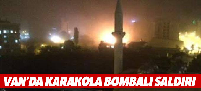 Van'da polis karakoluna bombalı saldırı