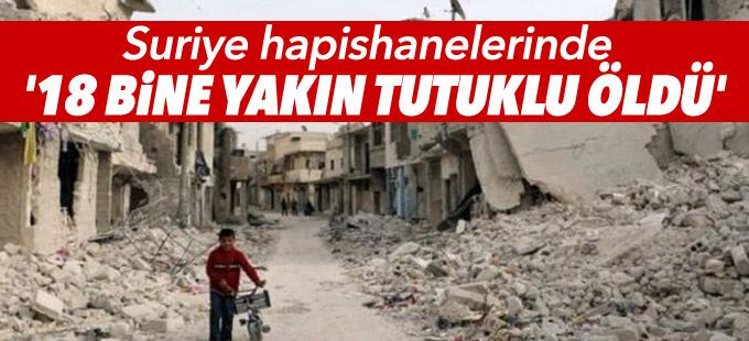Af Örgütü: Suriye hapishanelerinde '18 bine yakın tutuklu öldü'
