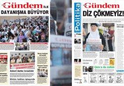 Kapatılan Özgür Gündem 'Dayanışma büyüyor' manşetiyle çıktı