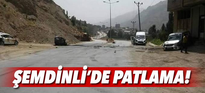 Şemdinli'de zırhlı aracın geçişi sırasında patlama