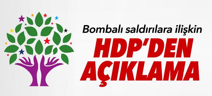 Bombalı saldırılara ilişkin HDP'den açıklama
