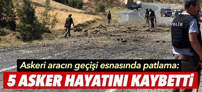 Bitlis'te patlama ve çatışma: 5 asker ve 1 korucu hayatını kaybetti