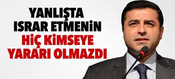 Demirtaş: Barışa katkı sunacak her türlü işbirliğine HDP katkı sunar
