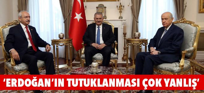 Kılıçdaroğlu: Erdoğan'ın tutuklanması çok yanlış
