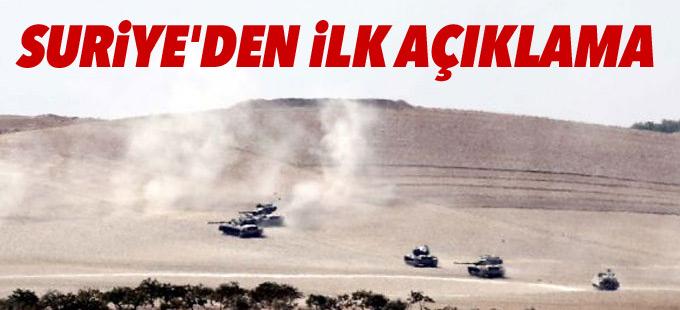 Suriye Dışişleri: Tankların sınırı geçmesi egemenliğimizin ihlali