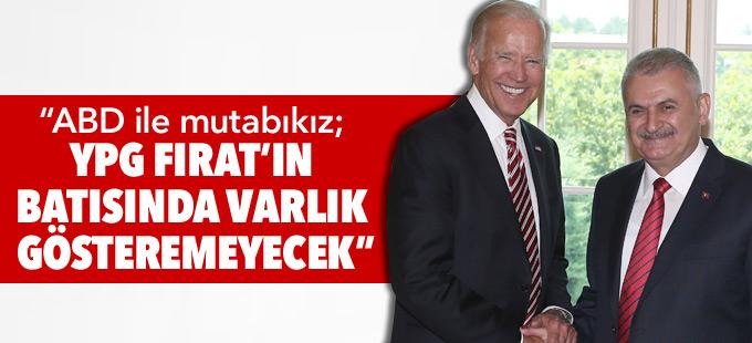 """""""ABD'yle mutabıkız; YPG Fırat'ın batısında varlık gösteremeyecek"""""""